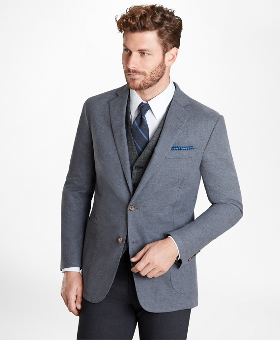 Regent Fit Two-Button Cotton Sport Coat Grey