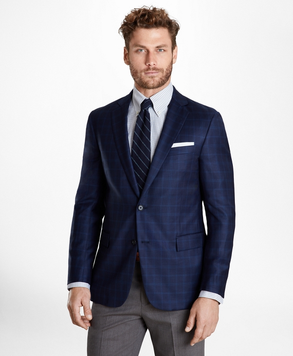 Regent Fit Check Sport Coat Navy
