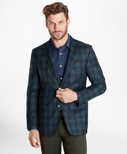 Regent Fit BrooksCloud™ Plaid Sport Coat
