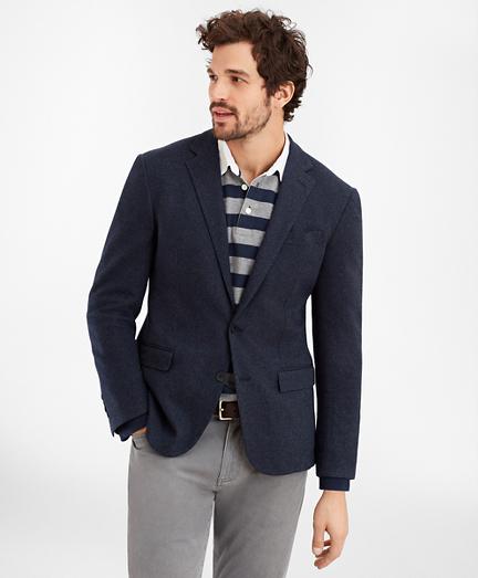 Regent Fit Two-Button Herringbone Knit Sport Coat