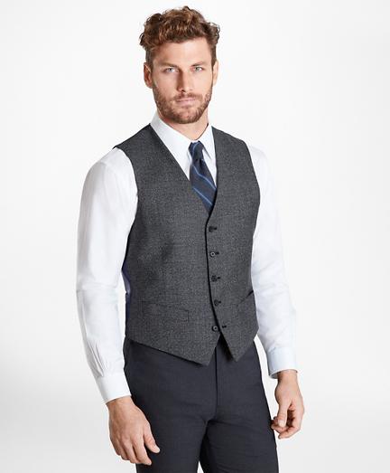 Glen Plaid Five-Button Vest