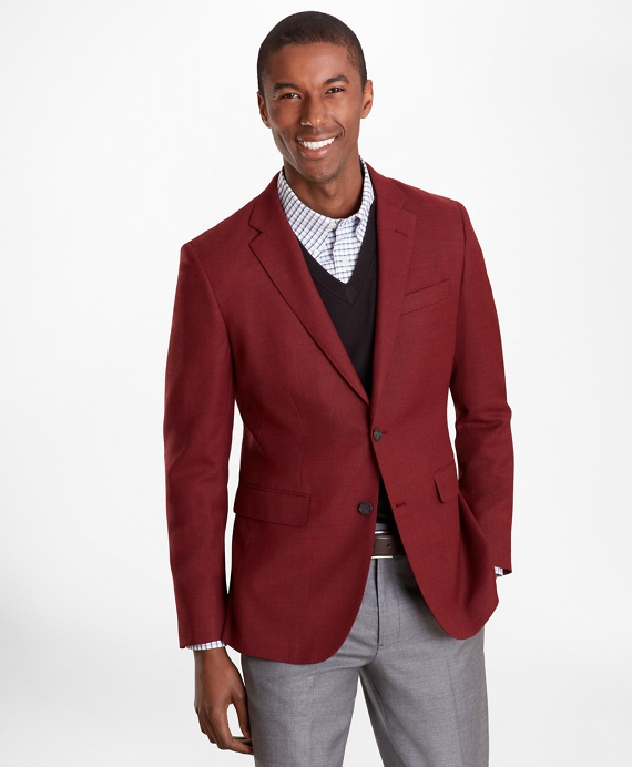Milano Fit Hopsack Sport Coat by Brooks Brothers