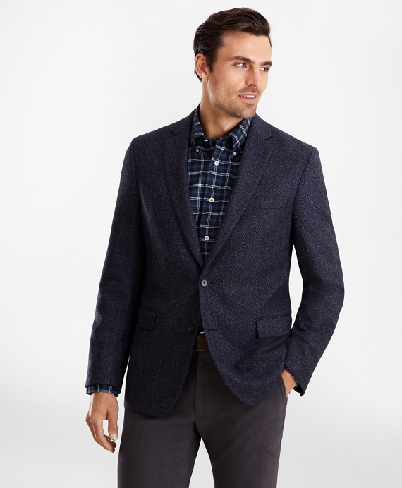 Regent Fit Herringbone Sport Coat Blue