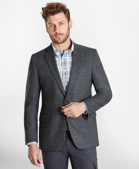 Regent Fit Herringbone Sport Coat Grey