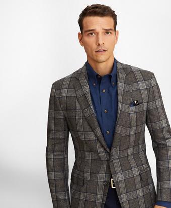 Regent Fit Large Check Sport Coat