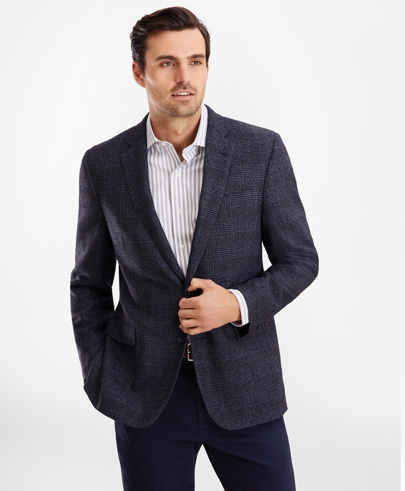 Regent Fit Glen Plaid Sport Coat Navy