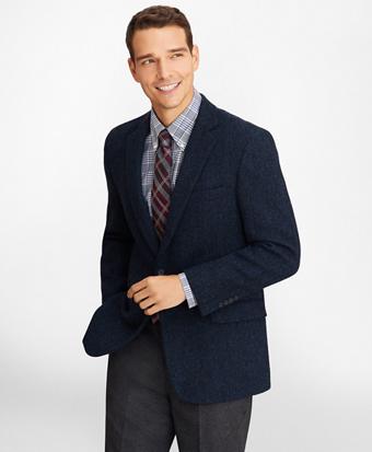 Regent Fit Three-Button Harris Tweed Sport Coat
