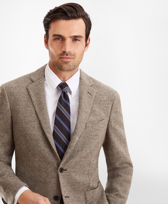 Regent Fit Two-Button Sport Coat Tan