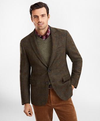 Regent Fit BrooksTweed® Plaid Sport Coat