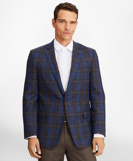 Regent Fit Brown Plaid Sport Coat