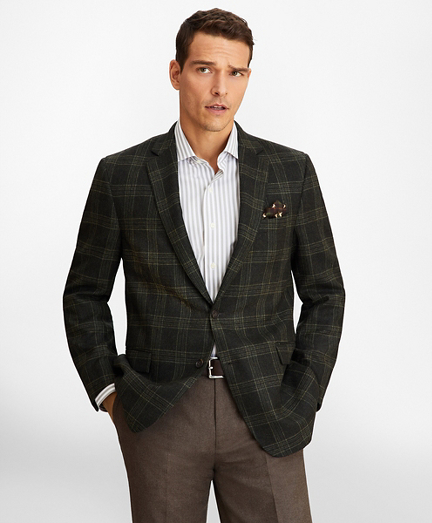 Regent Fit Green Plaid Sport Coat