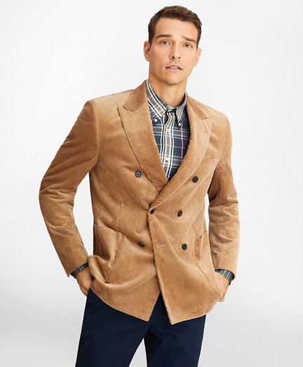 Regent Fit Double-Breasted Corduroy Sport Coat