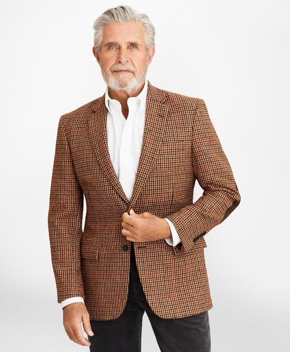 Madison Fit Plaid Sport Coat Burgundy