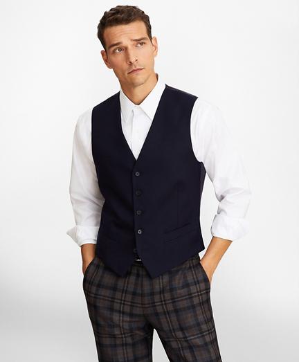 Five-Button Flannel Vest