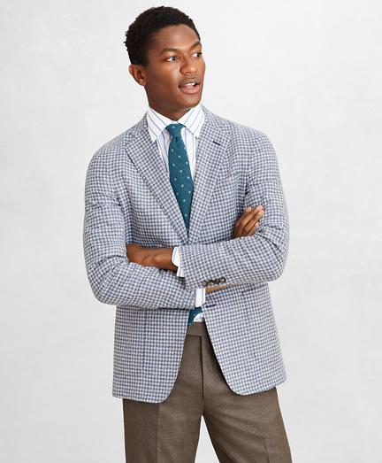 Golden Fleece® Wool-Blend Houndstooth Blue Sport Coat