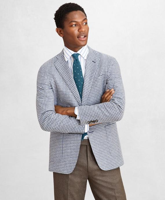 Golden Fleece® Wool-Blend Houndstooth Blue Sport Coat Blue