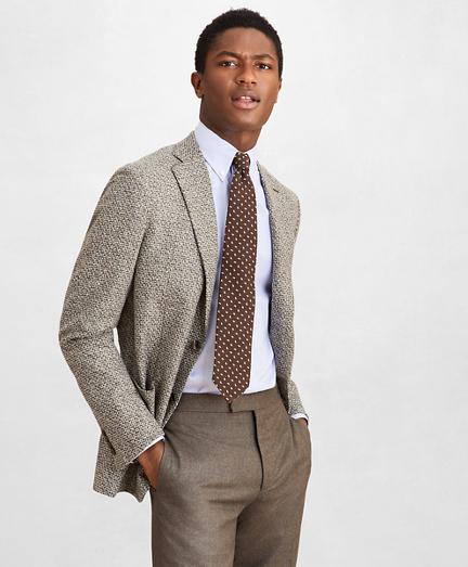 Golden Fleece® Wool-Blend Houndstooth Brown Sport Coat