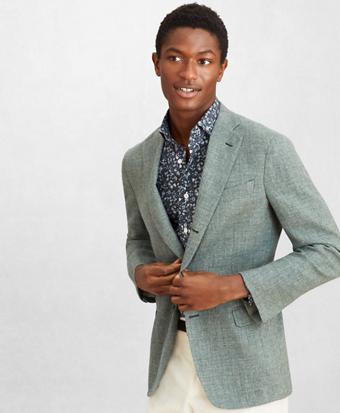 Golden Fleece® Three-Button Basketweave Sport Coat