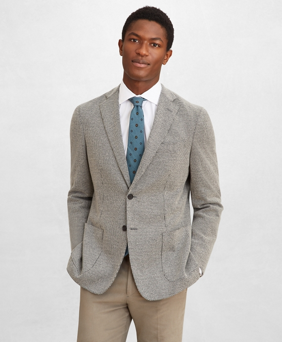 Golden Fleece® BrooksCloud™ Houndstooth Sport Coat Grey