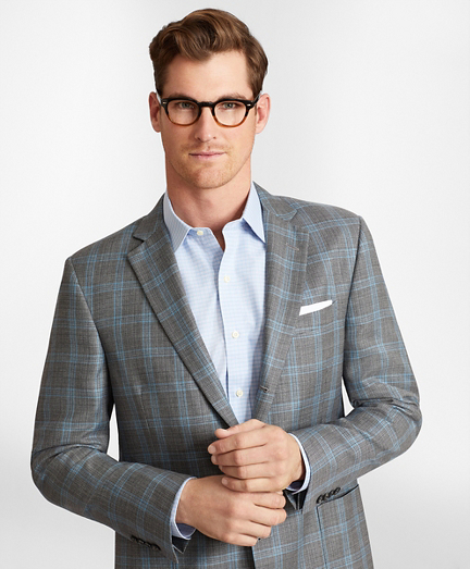 Regent Fit Three-Button Hopsack Sport Coat
