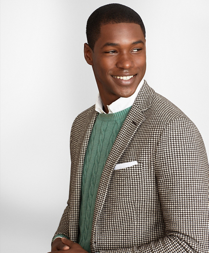 Regent Fit Houndstooth Sport Coat