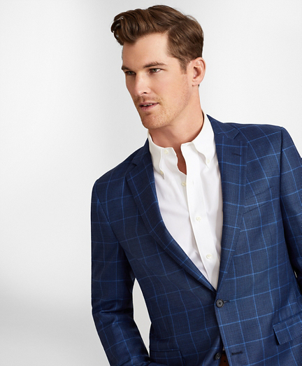 Regent Fit Hopsack Windowpane Sport Coat
