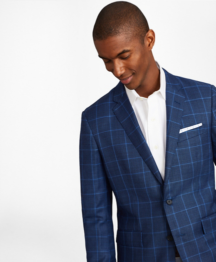 Milano Fit Hopsack Windowpane Sport Coat