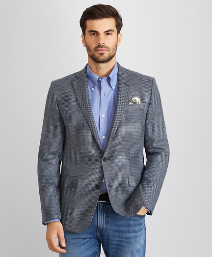 Regent Fit Blue Check Sport Coat