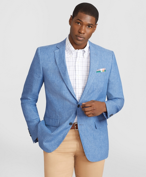 Regent Fit Linen Sport Coat Blue