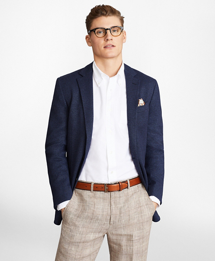 Regent Fit Two-Button Knit Sport Coat