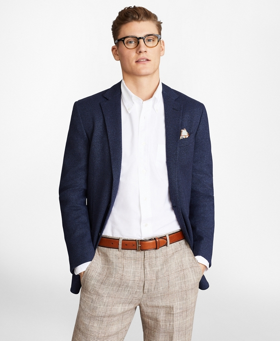 Regent Fit Two-Button Knit Sport Coat Navy
