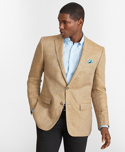 Regent Fit Two-Button Linen Sport Coat