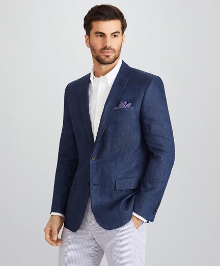 Regent Fit Two-Button Linen Sport Coat