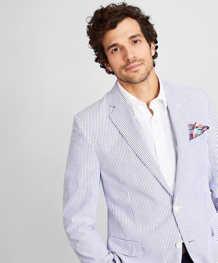 Regent Fit Stripe Seersucker Sport Coat