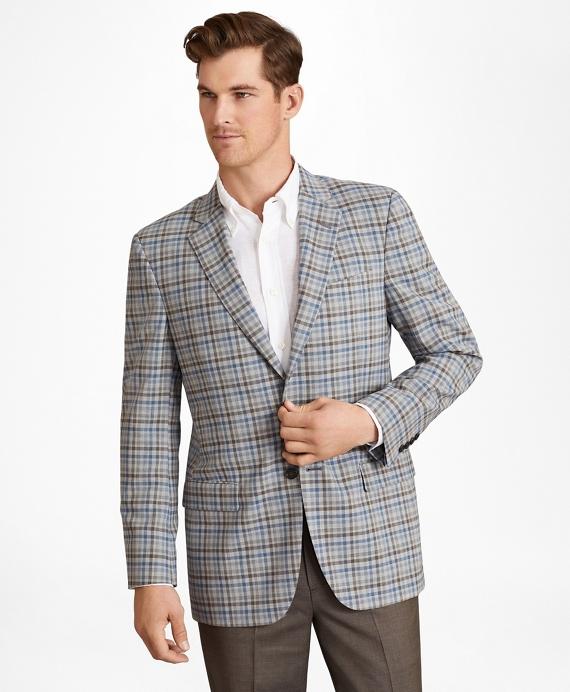 BrooksCool® Madison Fit Plaid Sport Coat Grey