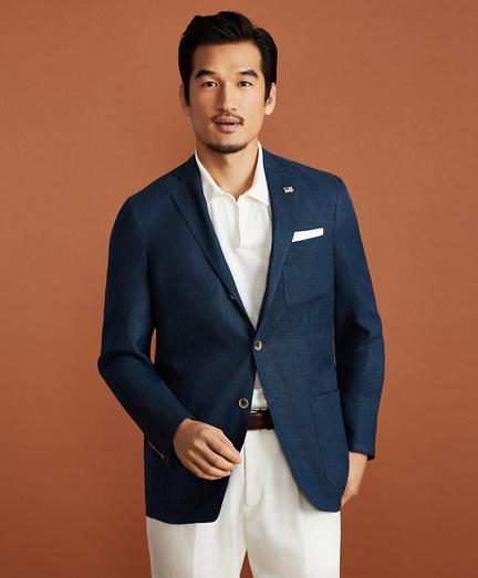 Golden Fleece® BrooksCloud™ Three-Button Linen-Wool-Silk Sport Coat