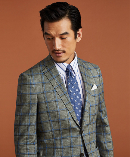Golden Fleece® Linen-Cotton Plaid Sport Coat