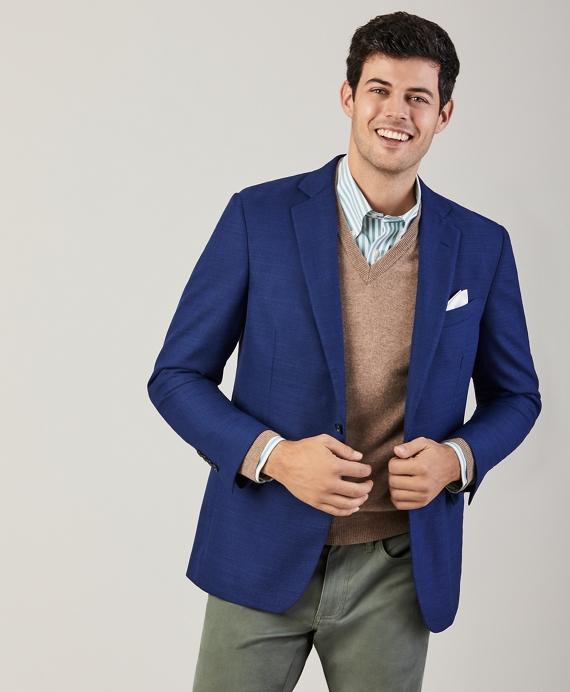 Regent Fit Hopsack Sport Coat Blue