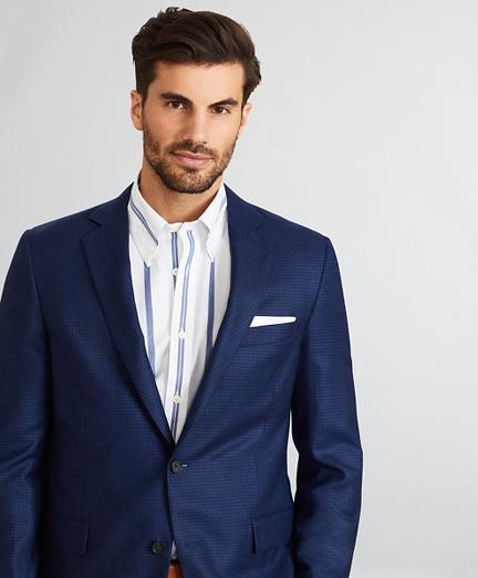 Regent Fit Micro-Check Sport Coat