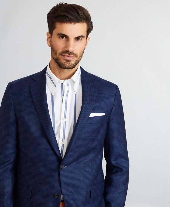 Regent Fit Micro-Check Sport Coat Blue
