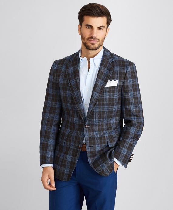 Regent Fit Glen Plaid Sport Coat Blue