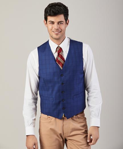 Five-Button Multi-Check Vest