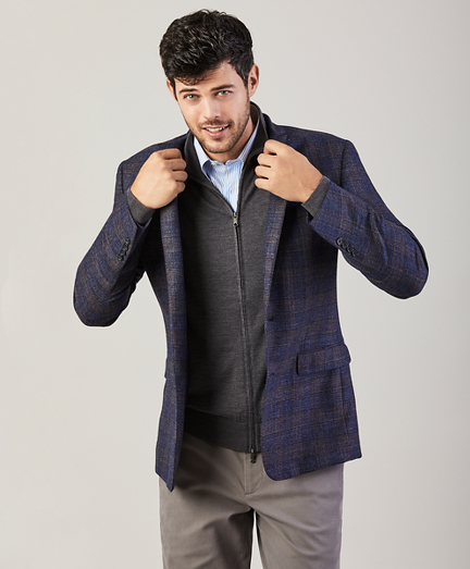 Regent Fit Micro-Check Sport Coat