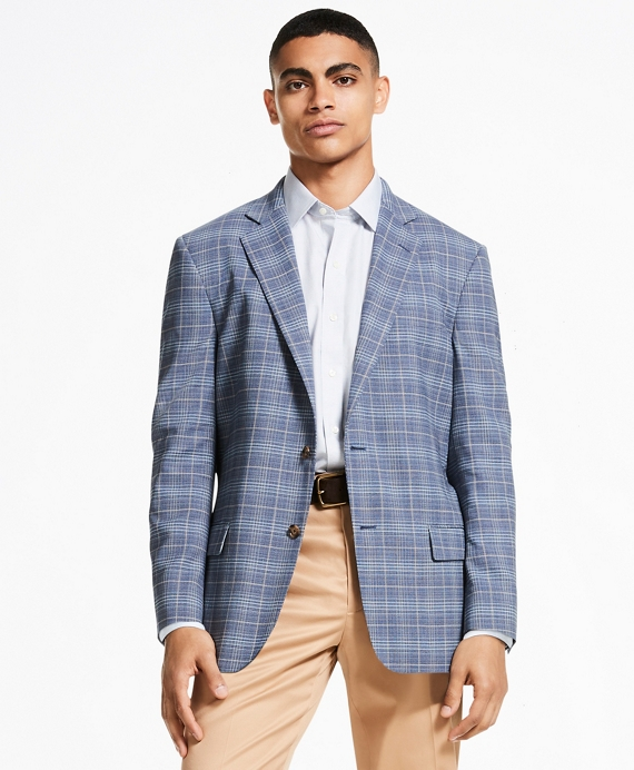 Madison Fit BrooksCool® Double-Check Sport Coat Navy
