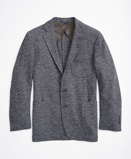 Regent Fit Herringbone Cotton-Wool Knit Sport Coat