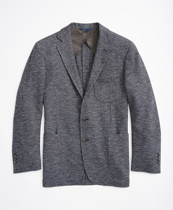 Regent Fit Herringbone Cotton-Wool Knit Sport Coat Blue