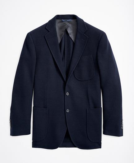 Regent Fit Wool Rib Knit Sport Coat