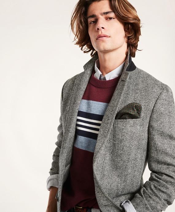 Regent Fit Wool Herringbone Sport Coat Grey