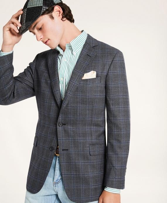 Regent Fit Glen Plaid Sport Coat Grey