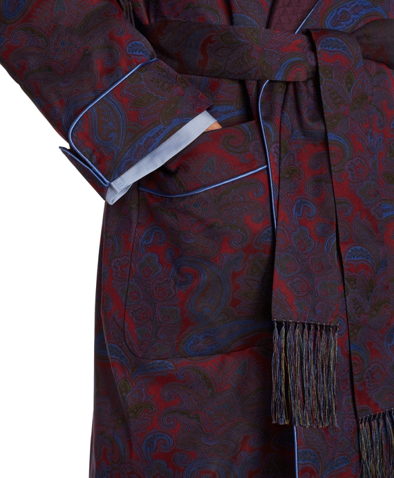 Silk Paisley Dressing Gown - Brooks Brothers